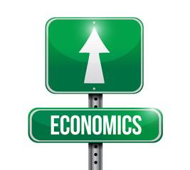 Economics street post illustration design