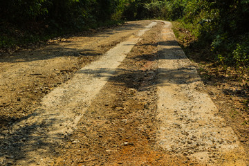 Rural roads in Underdeveloped country,Thailand