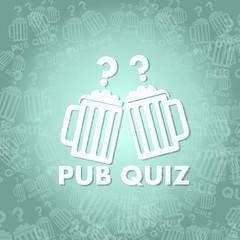 pub quiz symbol background
