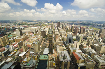 Beautiful johannesburg cityscape