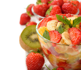 Fruit salad with strawberries
