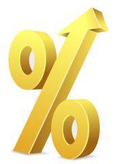 Prozentzeichen Pfeil nach oben