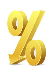 Prozentzeichen Pfeil nach unten