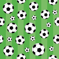 Vector seamless background. Football.