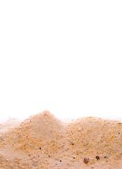 A pile of beach sand