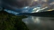 Columbia River Gorge in Hood River OR at Sunset with Clouds