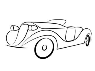 Oldtimer Cabrio Tribal
