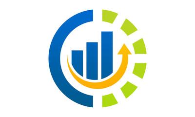 circle chart grow logo