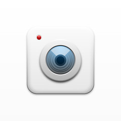 White square camera icon