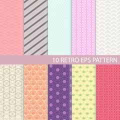 Set of Vintage Graphic Pattern