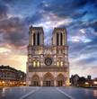 Leinwandbild Motiv Cathédrale notre-dame de Paris