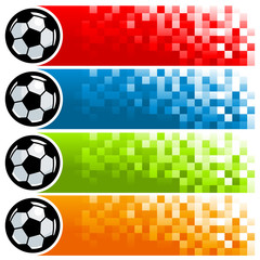 Colorful Soccer Pixel Banners