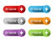 "Boutons Web ""EN SAVOIR +"" (aide renseignements informations faq)"
