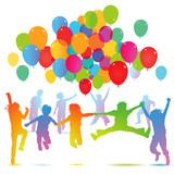 Fototapety Kindergeburtstag mit Luftballon
