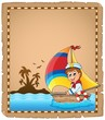 Parchment with sailor in boat 1