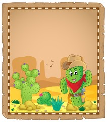 Parchment with cactus theme 1