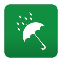Etiqueta tipo app verde simbolo lluvia