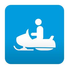 Etiqueta tipo app azul simbolo motonieve