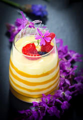 Yogurt Parfait with passion fruit puree