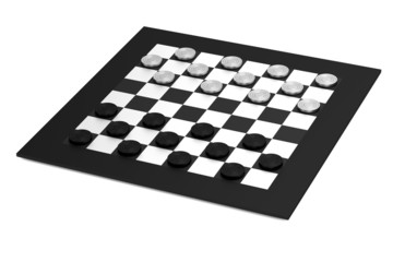 realistic 3d render of checkers