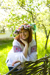 Portrait of the beautiful young Ukrainian