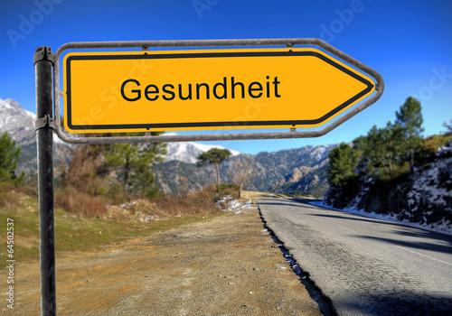 canvas print picture Strassenschild 16 - Gesundheit