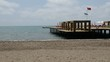 The pier near beach at the luxury hotel, Antalya, Turkey