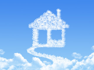 Home sign on Cloud shaped ,dream concept