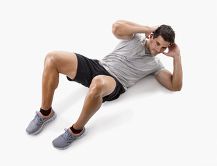 Man doing abdominals