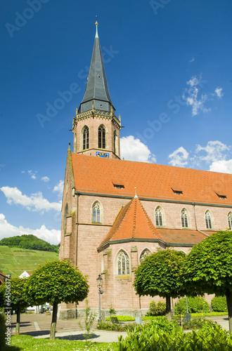 canvas print picture Kirche Kappelrodeck Schwarzwald