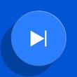 next blue web flat icon