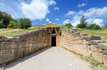 Treasury of Atreus,  Mycenae, Greece