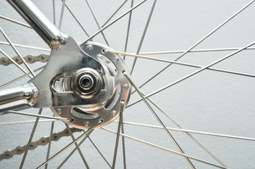 Bicycle rear wheel with chain & sprocket