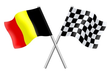 Flags: Belgium and checkerboard