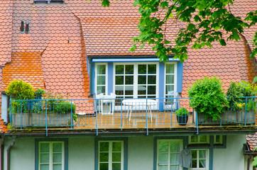 Dachterrasse in einem Altbau