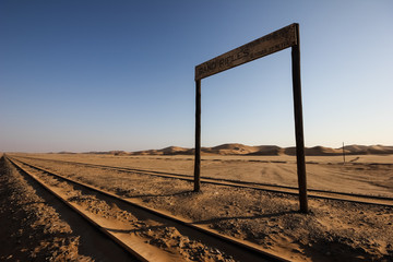 Rand Rifles Railway Station in the Desert, Namibia