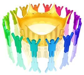 der Krone zujubeln - Monarchie