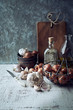 Still Life with Shallots and Garlic