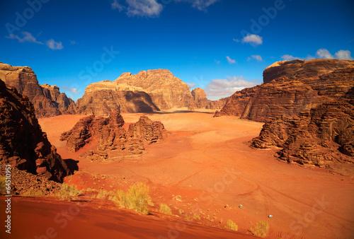 Keuken foto achterwand Zandwoestijn Wadi Rum desert, Jordan