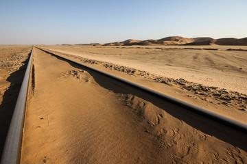 Deserted Railway Line near Swakopmund, Namibia