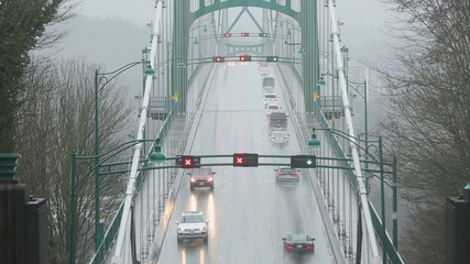 Lions Gate Bridge Wet Weather