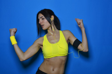 beautiful fitness woman posing, studio shot