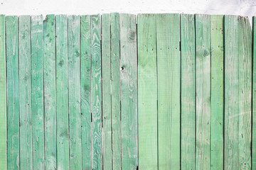 old green wooden wall