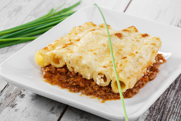 pasta casserole cheese minced meat