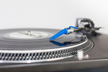 DJ needle on a vinyl record