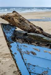 Schiffswrack am Strand