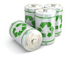 Leinwanddruck Bild - Battery green recycling concept.
