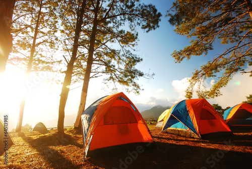 canvas print picture Camping