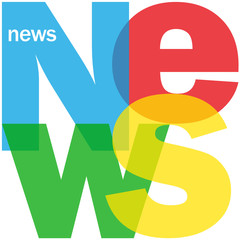 """NEWS"" Letter Collage (social media breaking headlines blogs)"