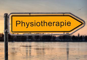 Strassenschild 9 - Physiothrapie